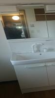 新規洗面台設置