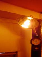 超レトロな照明、調光装置をかませたので、雰囲気自由自在♪