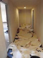 廊下も全部剥がすと、たいした量になります。