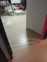 部屋と廊下の継ぎ目も無く、キレイに仕上がります。