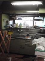 リフォーム前の、幅160センチのキッチン