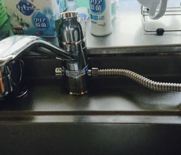 水栓交換後